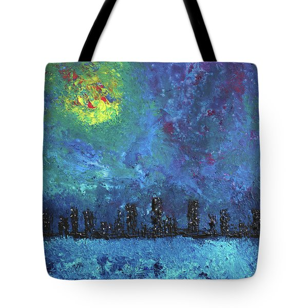 Full Moon Over Watercity Tote Bag by Erik Tanghe