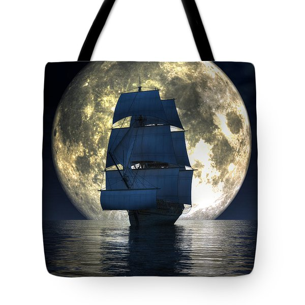 Full Moon Pirates Tote Bag by Daniel Eskridge