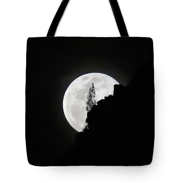 Full Moon Rising Over Makapu'u Tote Bag
