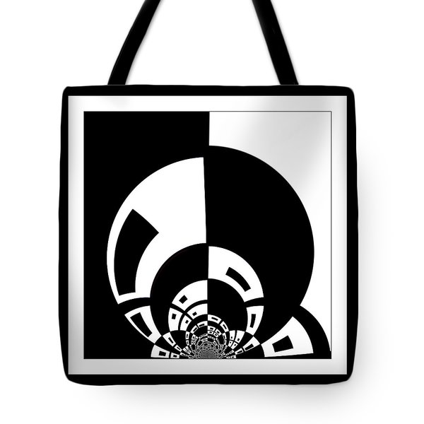 Tote Bag featuring the digital art Full Moon Rising by Wendy J St Christopher