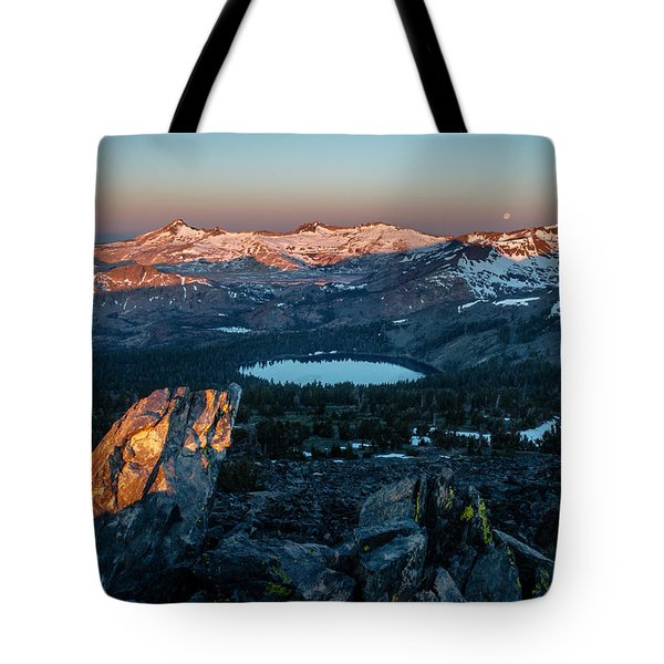 Full Moon Set Over Desolation Wilderness Tote Bag