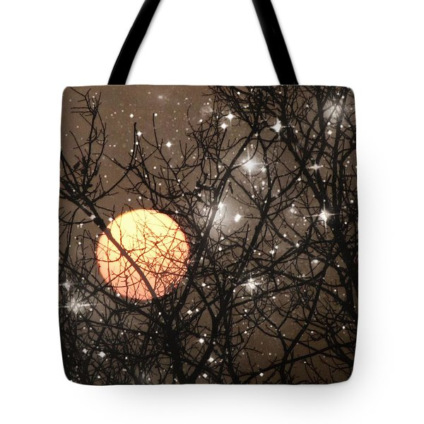Full Moon Starry Night Tote Bag