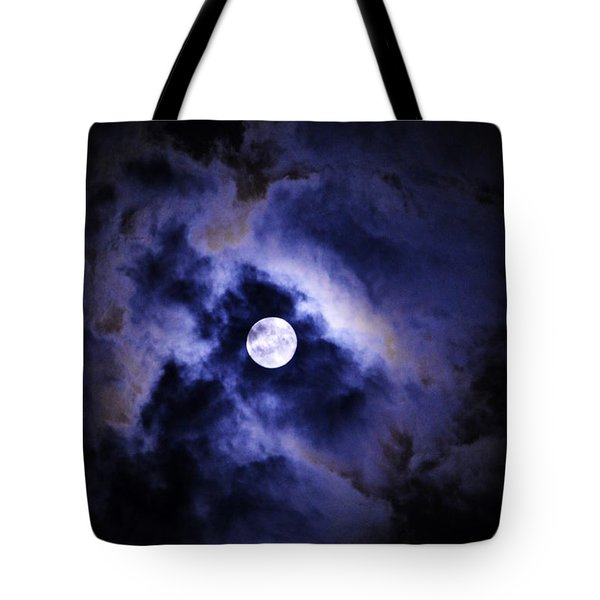 Tote Bag featuring the photograph Full Moon by W And F Kreations