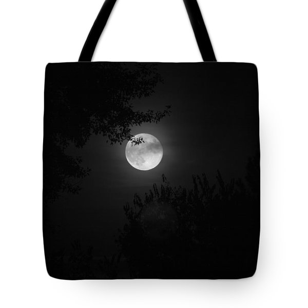 Full Moon With Branches Tote Bag