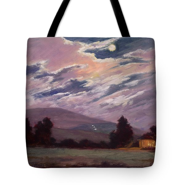Full Moon With Clouds Tote Bag