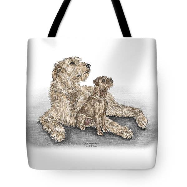 Full Of Promise - Irish Wolfhound Dog Print Color Tinted Tote Bag