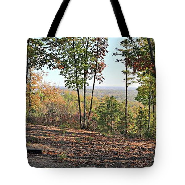 Full Panoramic View From The Summit Of Brown's Mountain Trail Tote Bag