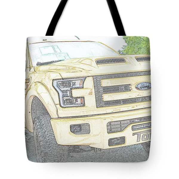Tote Bag featuring the photograph Full Sized Toy Truck by John Schneider