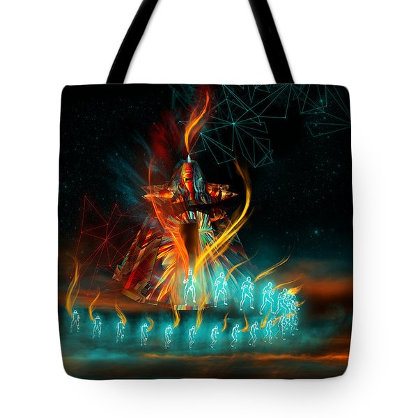 Fully Charged Tote Bag by Carmen Hathaway