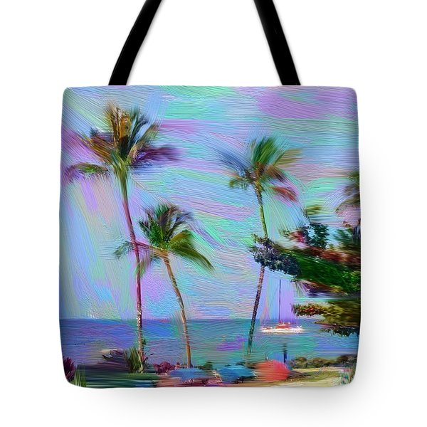 Fun At The Beach Tote Bag by Karen Nicholson
