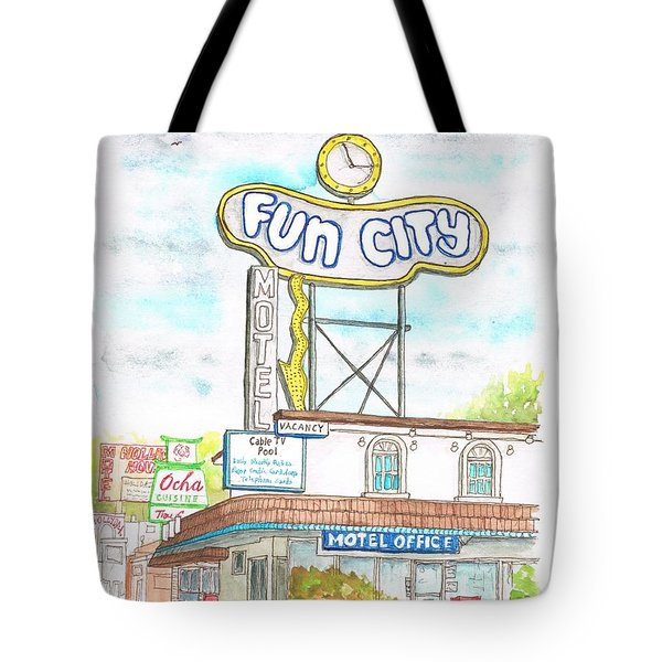 Fun City Motel, Las Vegas, Nevada Tote Bag