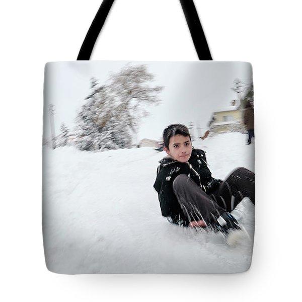 Fun On Snow-1 Tote Bag