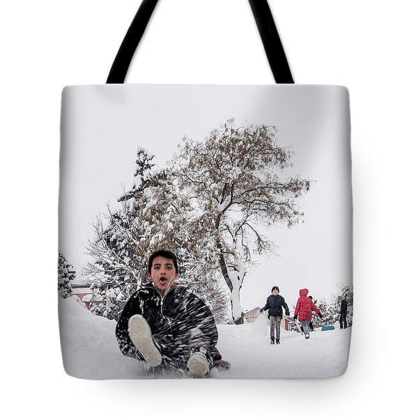 Fun On Snow-2 Tote Bag