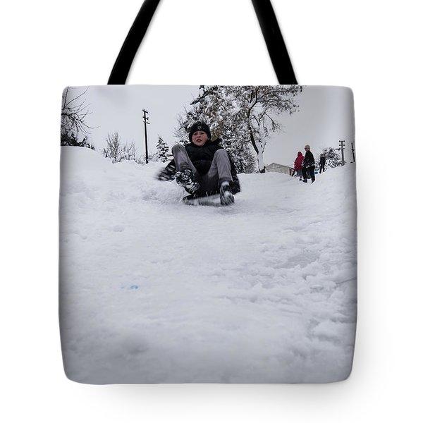 Fun On Snow-3 Tote Bag