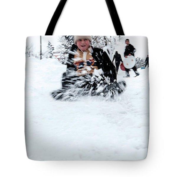 Fun On Snow-5 Tote Bag