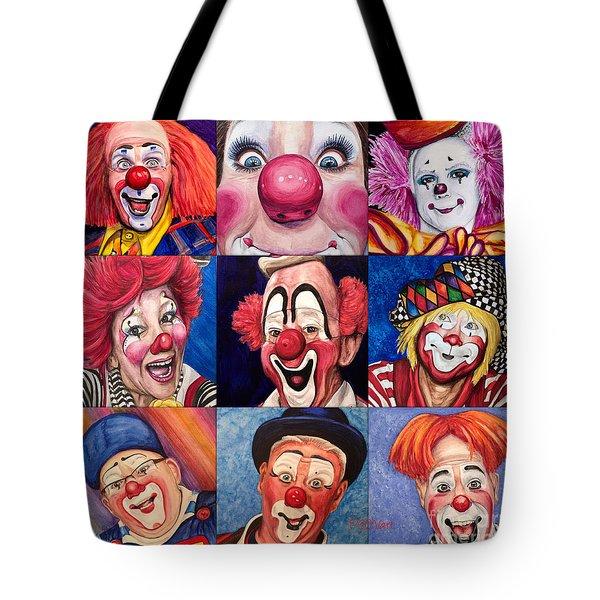 Fun Real Clowns Tote Bag