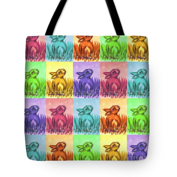 Fun Spring Bunnies Tote Bag