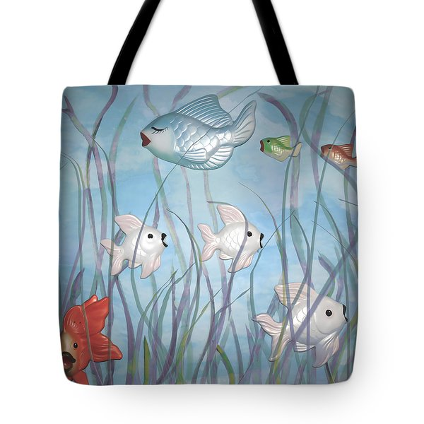 Fun With Chalkware Fish  Tote Bag