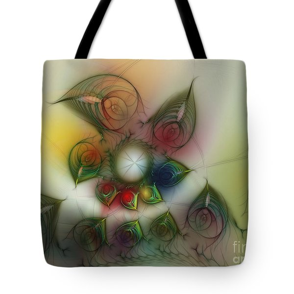 Tote Bag featuring the digital art Fun With Gardening by Karin Kuhlmann