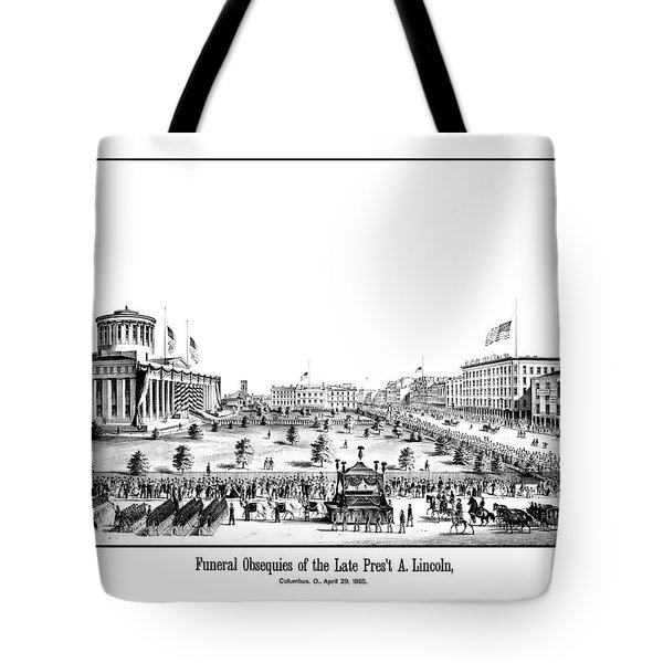 Funeral Obsequies Of President Lincoln Tote Bag
