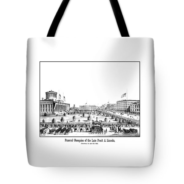 Funeral Obsequies Of President Lincoln Tote Bag by War Is Hell Store