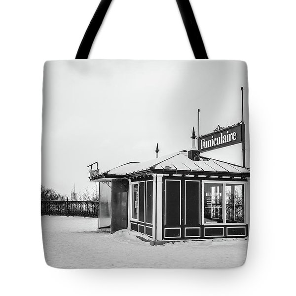 Funiculaire Quebec City Tote Bag