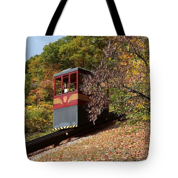 Funicular Descending Tote Bag by Cindy Manero