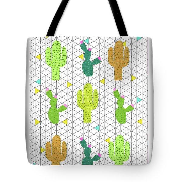 Funky Cactus Tote Bag by Nicole Wilson