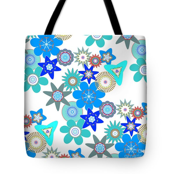 Funky Flower Pattern Tote Bag by Methune Hively