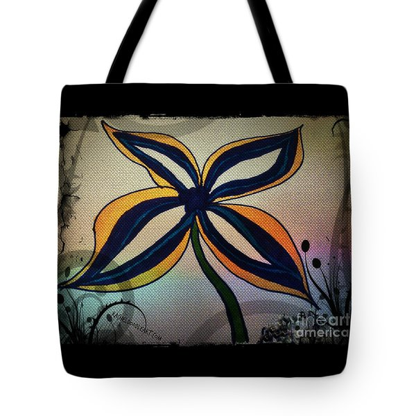 Funky Flower Tote Bag