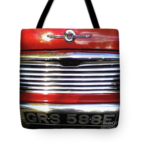 Tote Bag featuring the photograph Funky Mini Morris Cooper by Rebecca Harman