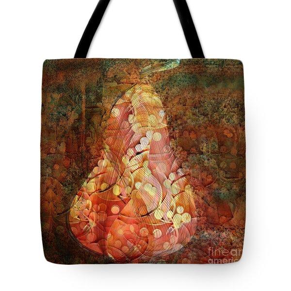 Funky Pear Tote Bag
