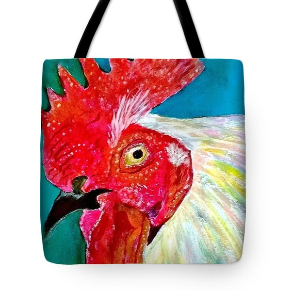 Funky Rooster Tote Bag