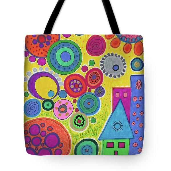 Funky Universe Tote Bag