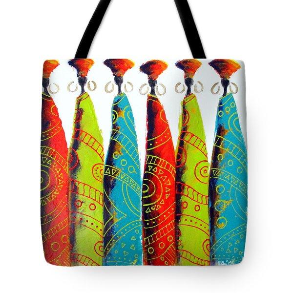 Funky Zulus Tote Bag