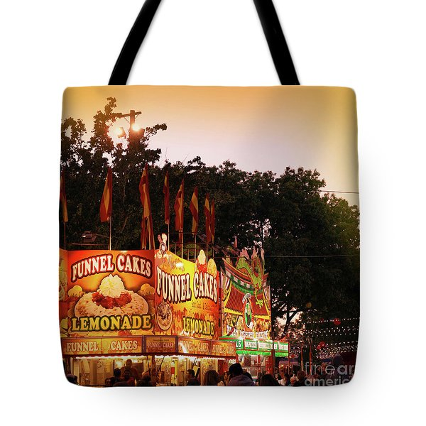 Tote Bag featuring the photograph Funnel Cakes by Cindy Garber Iverson