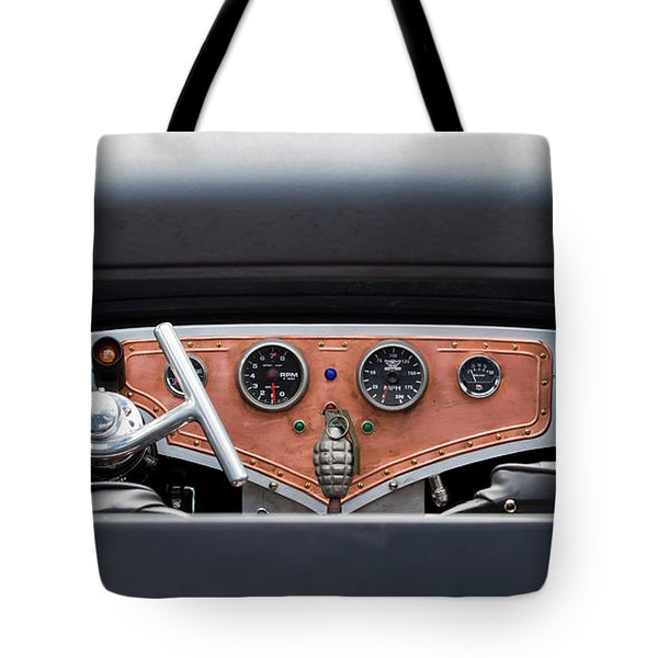 Tote Bag featuring the photograph Funny Car Dash by Chris Dutton