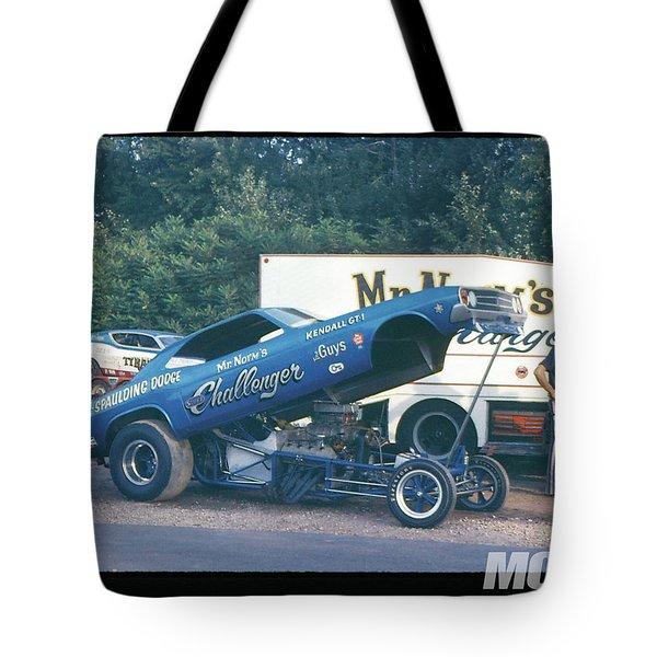 Funny Car Tote Bag