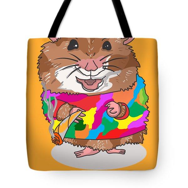 Funny Design Illustration Puns Hamsterdam The Wire Tote Bag