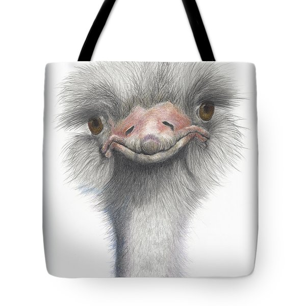 Tote Bag featuring the drawing Funny Face by Phyllis Howard