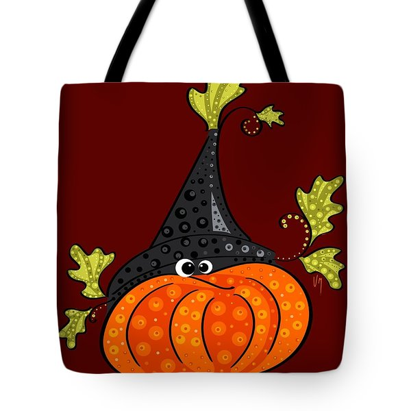 Tote Bag featuring the painting Funny Halloween by Veronica Minozzi