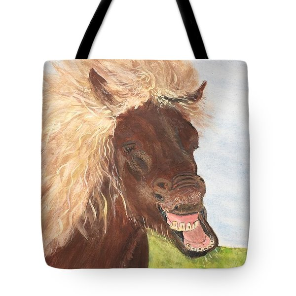 Funny Iceland Horse Tote Bag