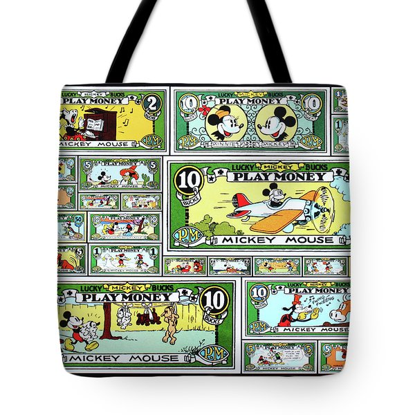 Funny Money Collage Tote Bag