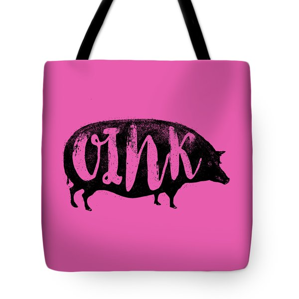 Funny Oink Pig Tote Bag by Antique Images