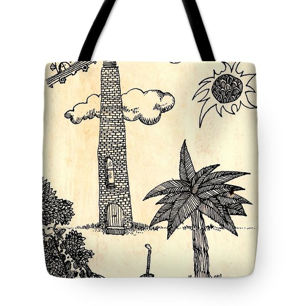 Funny Stuff Tote Bag by Carolyn Weltman