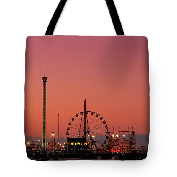 Funtown Pier At Sunset II - Jersey Shore Tote Bag