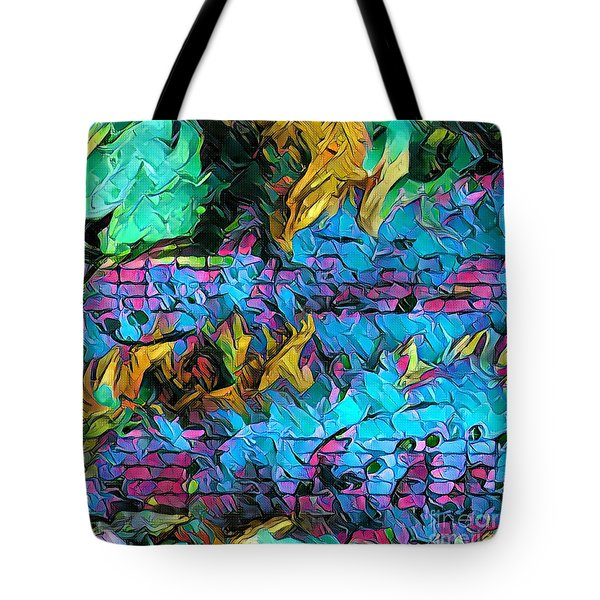 Fuoco Squared Tote Bag by Lon Chaffin