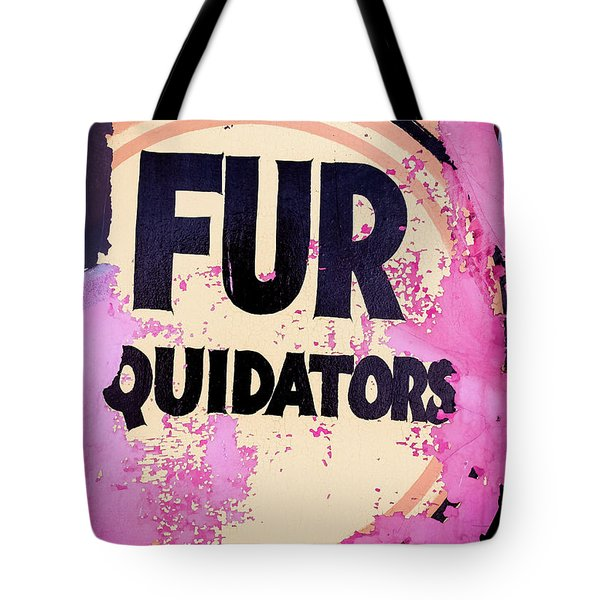 Tote Bag featuring the photograph Fur - Sign by Colleen Kammerer