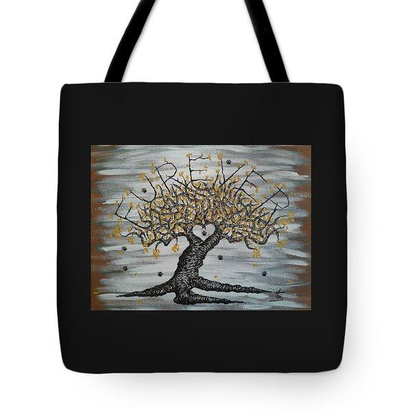 Furever Love Tree W/ Paws Tote Bag