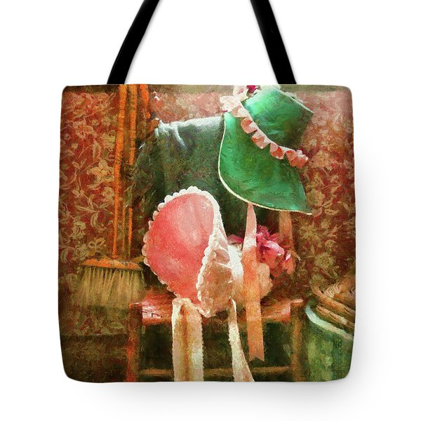 Furniture - Chair - Bonnets  Tote Bag by Mike Savad